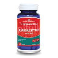 Quercetin + Vitamina D3, Herbagetica, 60cps