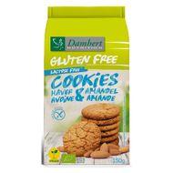 Biscuiti din ovaz cu migdale fara gluten, fara lactoza, BIO, vegan, Damhert, 150 g