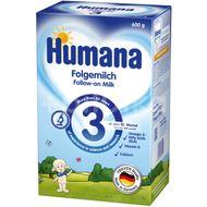Formulă lapte praf  Humana 3 GOS, 10 luni+, 600 g
