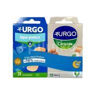 Pachet plasturi coricide 12buc + plasturi lavabil 70% reducere 20 buc, Urgo