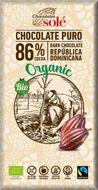 Ciocolata neagra BIO 86% cacao, 100gr Chocolates Sole