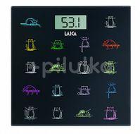 Cântar corporal electronic din sticlă design animăluțe PS1061, Laica, capacitate 180 kg