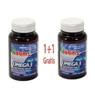 Omega 3 1000 mg, Adams Vision, 30 cps 1+1 Gratis