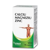 Calciu, Magneziu si Zinc, 50 comprimate