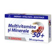 Multivitamine + Minerale + Ginseng 50+, Zdrovit, 56cpr
