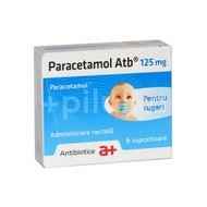 Paracetamol 125 mg- pentru sugari, 6 supozitoare