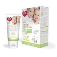 Pasta de dinti cu aroma de mar si banana pentru copii 0-3 ani si perie de masaj, Splat Baby Natural, 40 ml