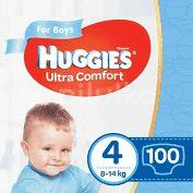 HUGGIES - ULTRA CONFORT BOY 4 (100) 8-14 KG