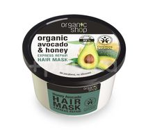 Masca de par bio reparatoare cu miere si avocado, 250 ml - Organic Shop